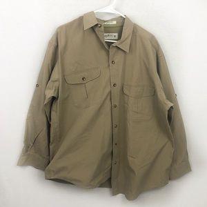 Orvis men's button down shirt Size L
